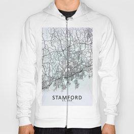 Stamford, CT, USA, City Map Hoody
