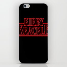 Kirby Krackle - Upside Down Logo iPhone Skin