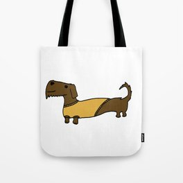 Dacshund with Sweater Tote Bag
