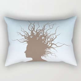Woman with branches in her hair Rectangular Pillow