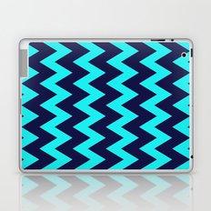 Chevron Navy Turquoise Laptop & iPad Skin