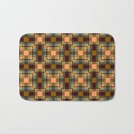 Brown abstract Checkered pattern . Bath Mat