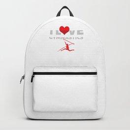 I Love Gymnastics Cool Gymnast Athletic Sports Gift Backpack