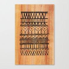 Wooden Tribal Pattern Canvas Print