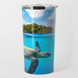 Tropical Paradise Travel Mug