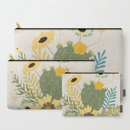 Wildflowers & Cactus Carry-All Pouch
