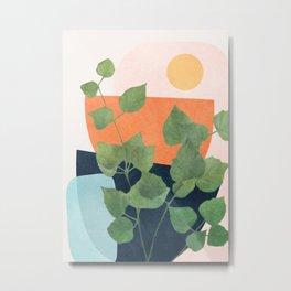 Nature Geometry IX Metal Print
