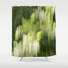 Green Hue Realm Shower Curtain