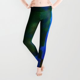 Blue and green art Leggings
