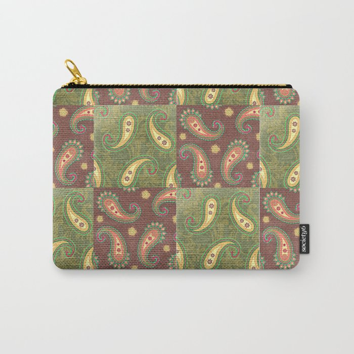 Paisley Patchwork Carry-All Pouch