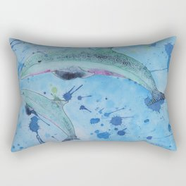 Dolphin and Baby Rectangular Pillow