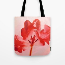 Transparent Red Flower Tote Bag