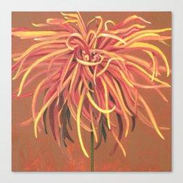 Big Orange Pop Art Chrysthanthemum Canvas Print