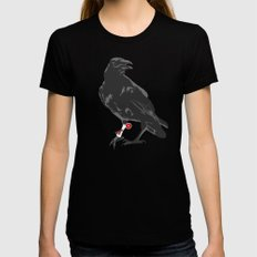 You've Got a Raven MEDIUM Black Womens Fitted Tee