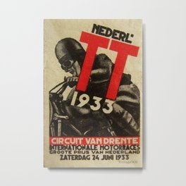 Vintage poster - Dutch Motorcycles Metal Print