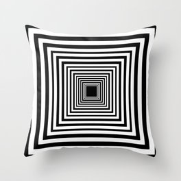 Optic Illusion Room With Visual Effect Throw Pillow