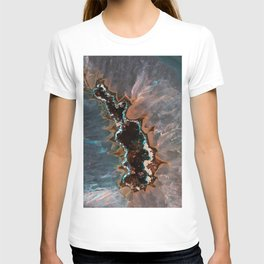 Earth treasures - Blue and orange agate T-shirt