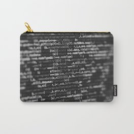 The Code (Black and White) Carry-All Pouch