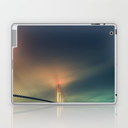 Bridge in Fog 2 Laptop & iPad Skin