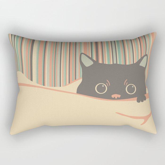 Kitty in the blanket Rectangular Pillow