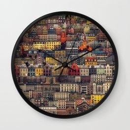 Copenhagen Facades Wall Clock