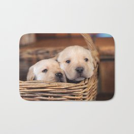 Puppies Labrador Retriever Bath Mat