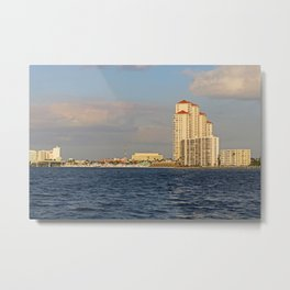 Shoreline in Fort Myers II Metal Print