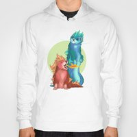 ferret Hoodies featuring Ferret Dragons by AlliePets