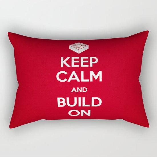 Keep Calm and Build On Rectangular Pillow