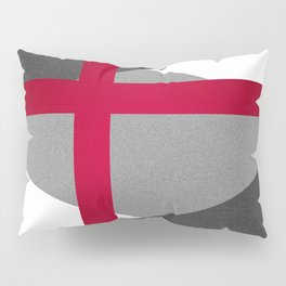 Black and White Triangles // Red Pink Cross (Golden Ration) Pillow Sham