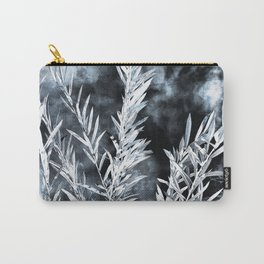 Willow leaves in black and white Carry-All Pouch