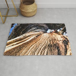 Twisted Trunk // Close up Tree Photography Wood Grain Forest Branches Outdoor Nature Decor Rug