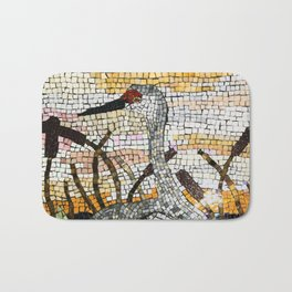 Sunset Sandhill Crane Bath Mat