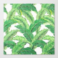 banana leaf Canvas Prints featuring Banana for banana leaf by Indulgencedecor