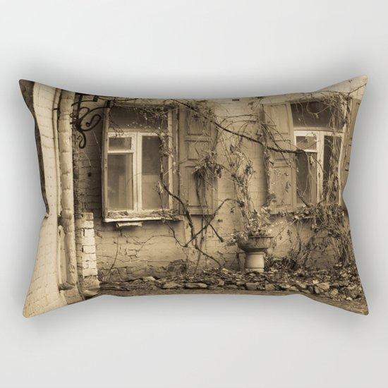 quiet courtyard Rectangular Pillow