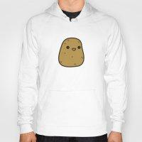 potato Hoodies featuring Cute potato by peppermintpopuk