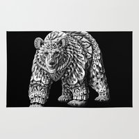 ornate Area & Throw Rugs featuring Ornate Bear by BIOWORKZ