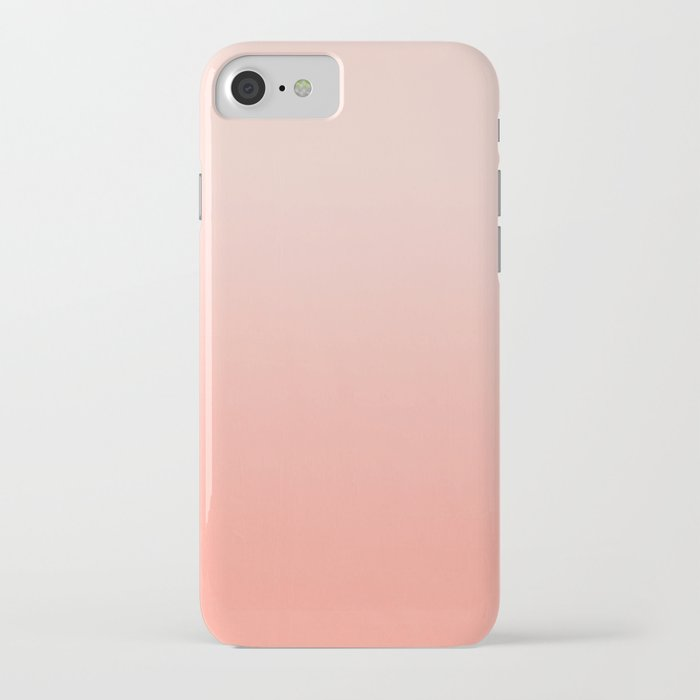 ombre pastel fade peach blush coral gender neutral basic canvas art print minimalist iphone case