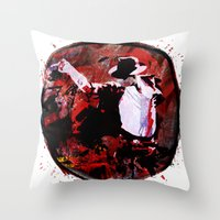 boxing Throw Pillows featuring Boxing MJ by Genco Demirer