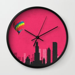 chicago coldplay Wall Clock
