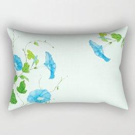 blue morning glory Rectangular Pillow