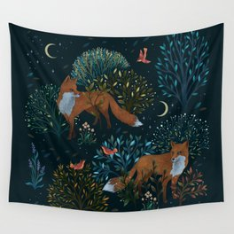 Forest Foxes Wall Tapestry