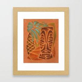Palm Pattern Framed Art Print