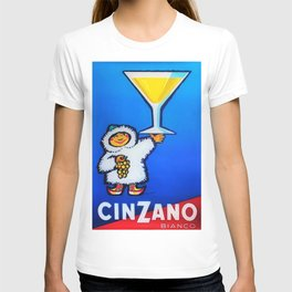 1950 Cinzano Vermouth Bianco Vintage Advertising Poster T-shirt