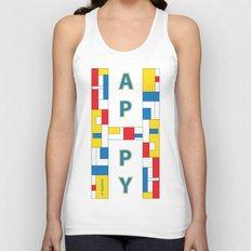 Happy Mondrian Unisex Tank Top