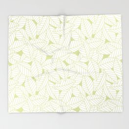 Leaves in Fern Throw Blanket