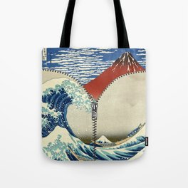 Mt. Fuji and the Wave Tote Bag