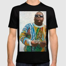 Biggie Smalls in a Coogi Sweater Black Mens Fitted Tee 2X-LARGE