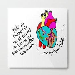 corazón de colores Metal Print