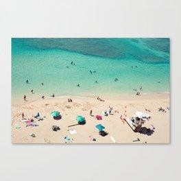 Waikiki Beach - Honolulu, Hawaii Canvas Print